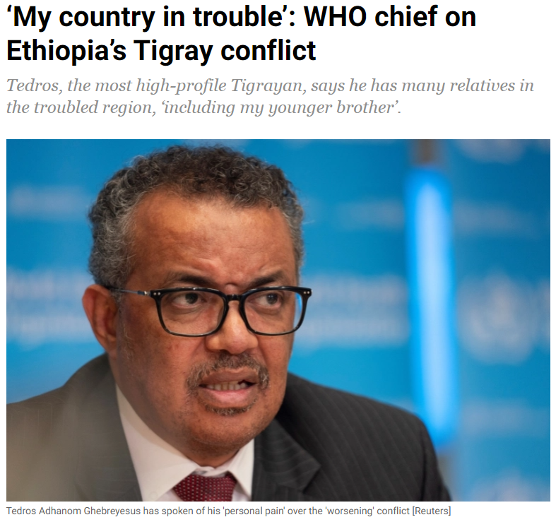 Day 55 of war on Tigray: Tedros Adhanom's 'personal pain' and other stories