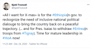 Day 52 of war on Tigray: Asimba's press release, call for evidence from Adigrat, UNICEF's appeal
